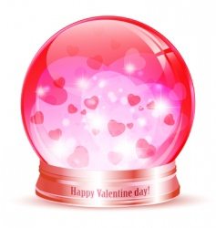 Valentine day globe vector