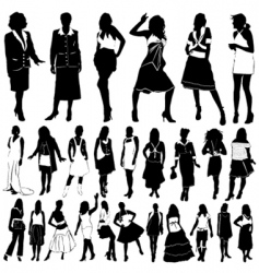 fashion women vector image