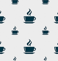 Tea coffee icon sign seamless pattern with vector
