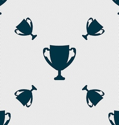 Winner cup sign icon awarding of winners symbol vector