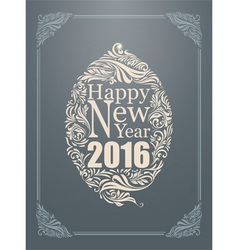 Happy new year typography poster and vintage vector