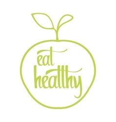 Eat healthy poster vector