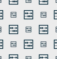 Abacus icon sign seamless pattern with geometric vector