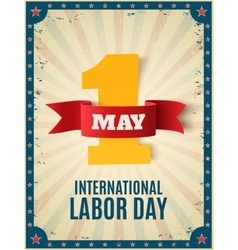 May 1st labor day background template vector