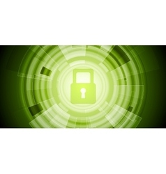 Abstract green tech security background vector
