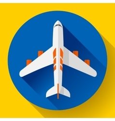Airplane delivery icon flat design style vector