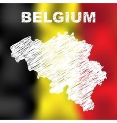 Belgian abstract map vector