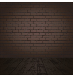 brick wall and wood floor vector image vector image