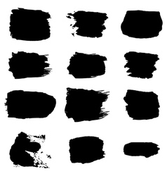 brush stroke black abstract white background vector image