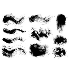 Brush strokes set 8 vector