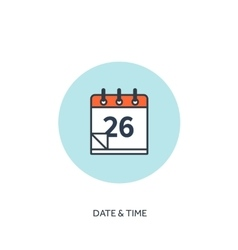 Calendar lined icon Date and vector image