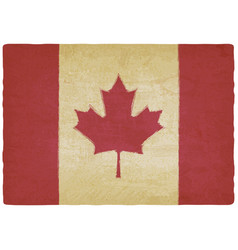 canadian flag in retro colors vintage background vector image vector image