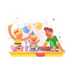 Children birthday party vector