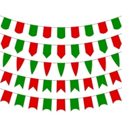 Collection of festive decorative flags holiday vector