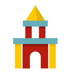 colorful castle toy blocks icon isolated vector image vector image