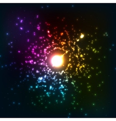 Colorful cosmic explosion vector