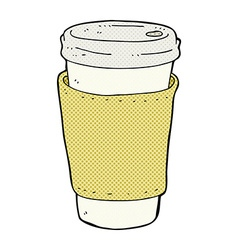Comic cartoon coffee cup vector