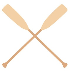 Crossed oars vector