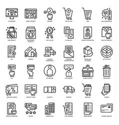 E-commerce website icon vector