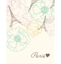 Eifel Towers Paris In Vintage Style vector image vector image