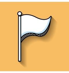 Flag mark line isolated icon vector
