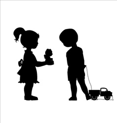 Girl and boy friendship vector