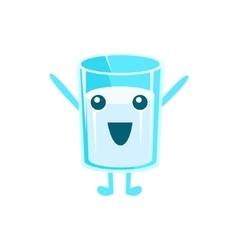 Happy Milk Glass Character vector image vector image