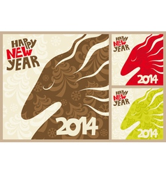 horses 2014 vector image vector image