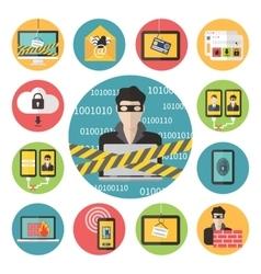 Internet web security vector image vector image