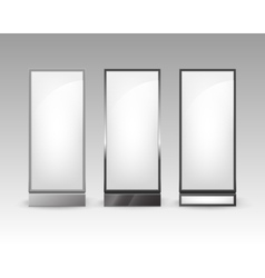 Rectangular poster pillars for indoor advertising vector