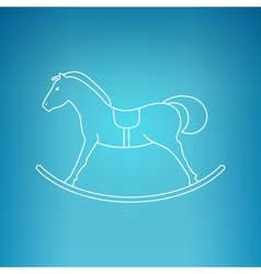 Rocking horse on a blue background vector