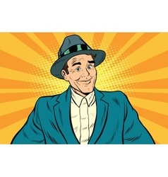 Smiling man without a tie vector image vector image