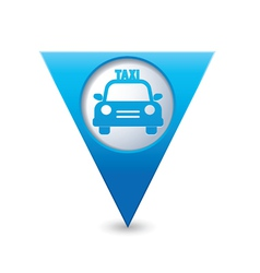 taxi icon map pointer blue vector image vector image