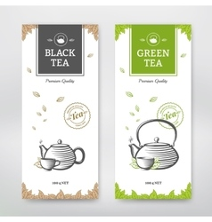 Tea design package vector image