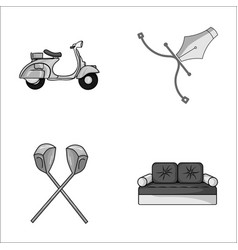 Transport sport and other monochrome icon in vector