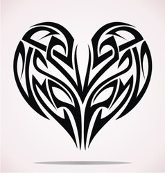 Tribal Heart vector image vector image