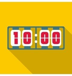 Yellow digital clock icon flat style vector