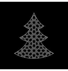 Ornamental christmas tree vector