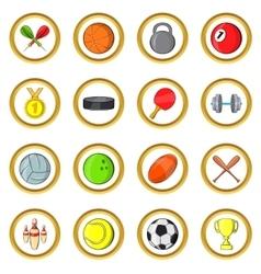 Sport set cartoon style vector image