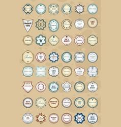 vintage labels retro style set design elements vector image