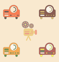 Collection in flat style retro vector