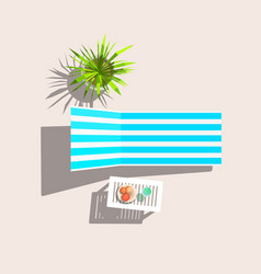 Lounge and plastic table vector