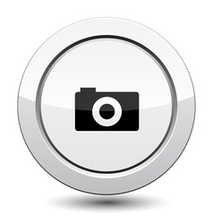 Button with camera vector