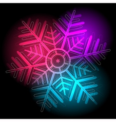 Glowing colorful snowflake vector