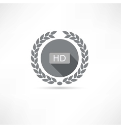 Hd icon vector