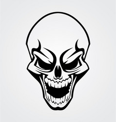 Black skull tribal vector