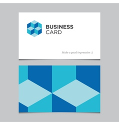 business card 04 vector image