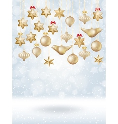 Christmas bokeh poster with Tree EPS 10 vector image