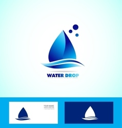 Water drop droplet logo icon set vector