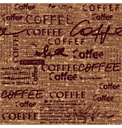Coffee pattern for menu design vector
